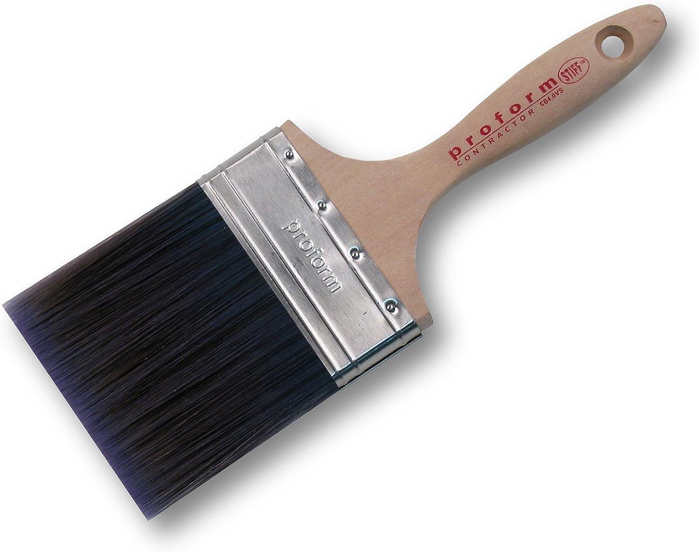 Proform CB4.0VS Contractor Beaver Tail Stiff Paint Brush 4-Inch