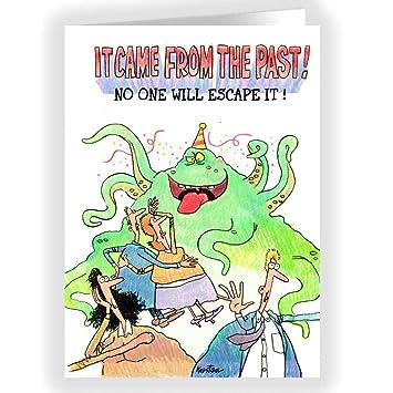 Amazon.com: El cumpleaños Monster, nadie escapa – Tarjeta de ...