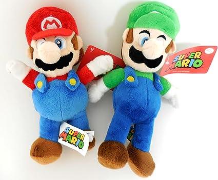 amazon com nintendo mario and luigi 2 plush doll set 8 5 inches