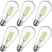 LVWIT Bombillas de Filamento ST64 LED E27 (Casquillo Gordo) - 4W equivalente a 40W,…