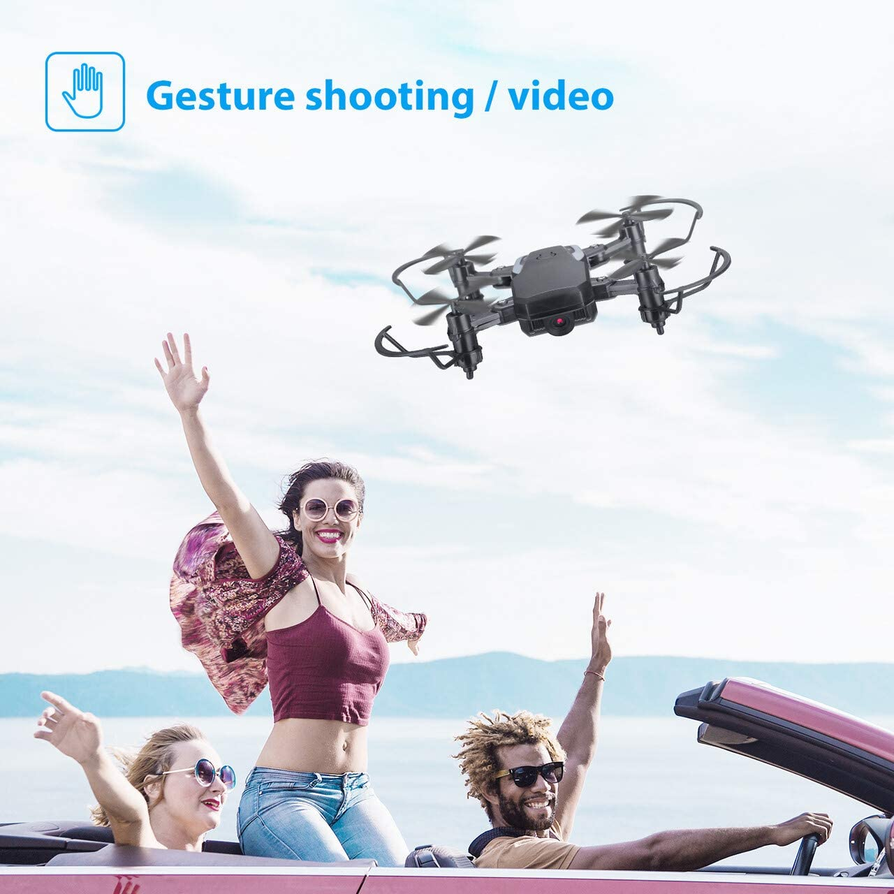 Powerextra 4DRC Mini Drone with 720P FPV Camera for Kids and Beginners Foldable Drone with WiFi Live Video RC Quadcopter Altitude Hold App Control 3 Modular Batteries 3D Flips and One Key Return