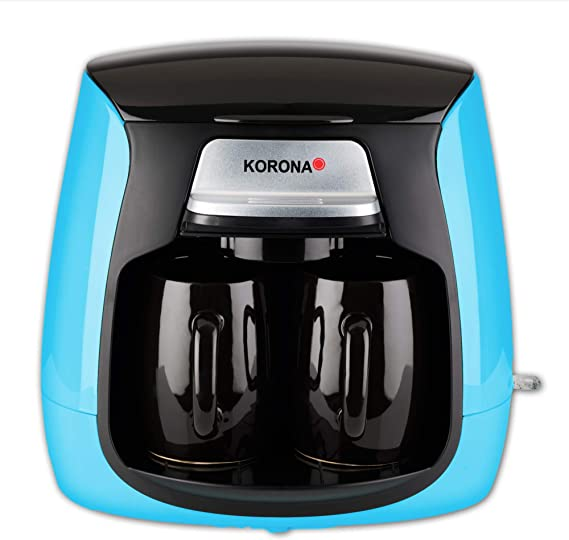 Korona 12208 - Cafetera compacta con filtro permanente y 2 tazas 12207 azul: Amazon.es: Hogar