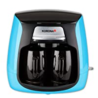 Korona 12207 Compact Koffiezetapparaat | Blauw-Zwart | incl. 2 Keramische Koppen | Permanent Filter | 2 Kops…