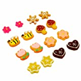 Pack of 8 Color Cute Fashion Mangnetic Stud Earrings for Girls Kids Women (Color: Multi-color)