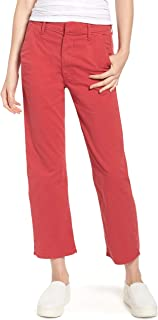 product image for MOTHER Women's Tomcat Prep Chino Crop Pants Poppy