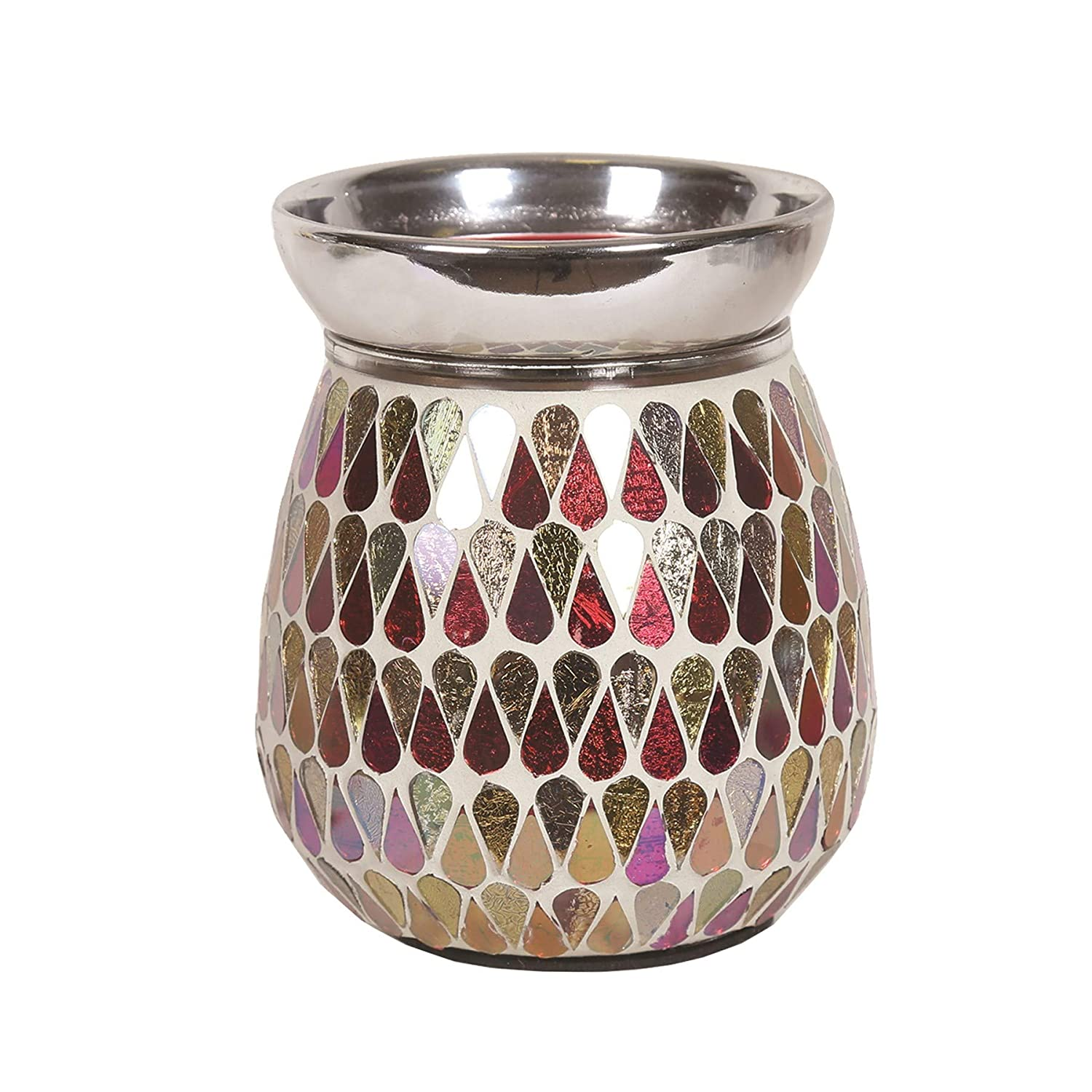 Electric Red Shimmer Wax Tart Melt Burner Lamp Hand Crafted Aroma Warmer Astin of London - Aroma Accessories