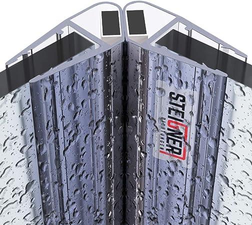 4mm 201cm SET 180 DEGR/É 5mm UPS STEIGNER  UKM01 Joint d/étanch/éit/é DOUCHE magn/étique pour verre d/épaisseur 3,5mm