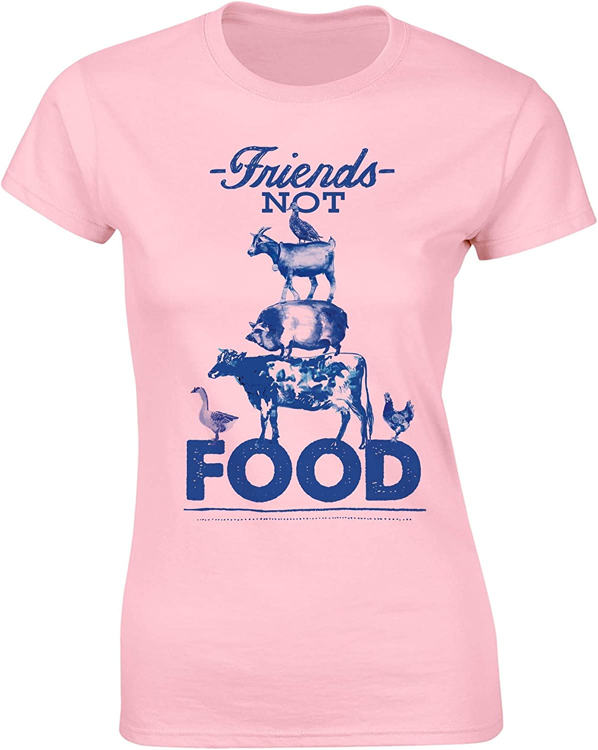 Vegan T Shirt - Friends Not Food Tshirt - Vegan Gifts for Women