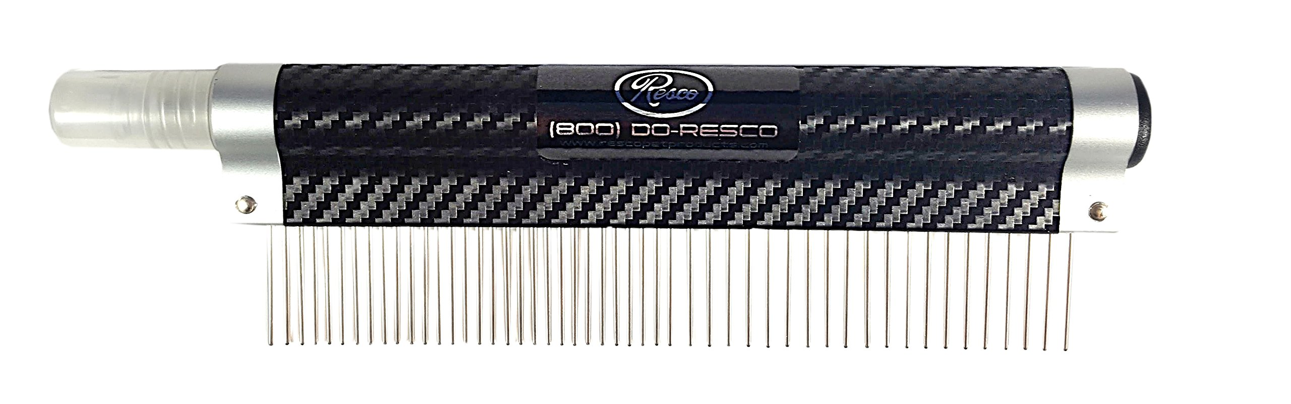 Resco USA-MADE Spritzer Comb for Pets, 1'' Combination, Carbon Fiber, Includes Detangler and Finishing Spray