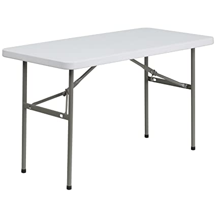 buy 24 w x 48 l granite white plastic folding table online at low