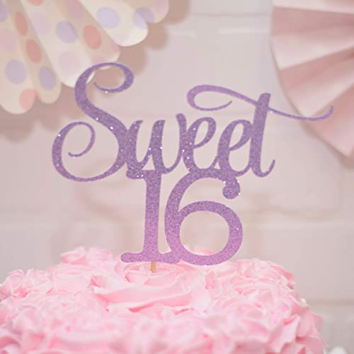 Image Unavailable Not Available For Color Sweet 16 Birthday Cake Topper Purple