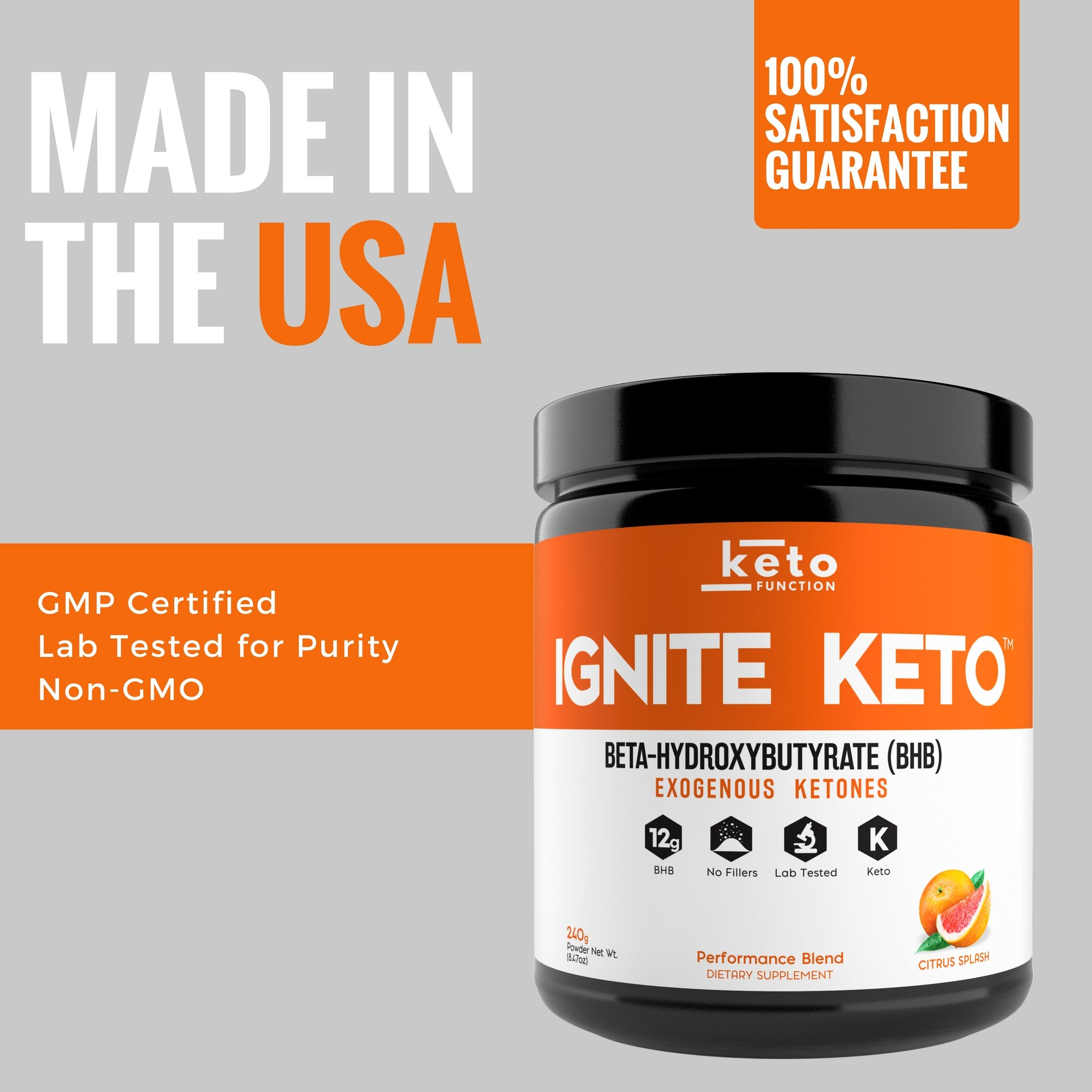 IGNITE KETO Drink - Instant Exogenous Ketones Supplement - 12g Pure BHB Salts - Fuel Ketosis, Energy, and Focus - Best goBHB Ketone Drink Powder Mix - Perfect for Low Carb Keto Diet by Keto Function (Image #9)