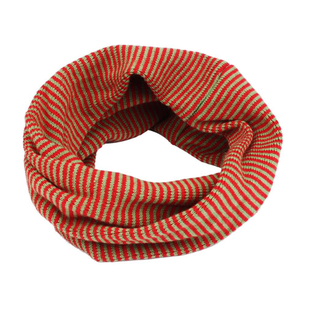 FEITONG New Infant Toddlers Baby Kids Boys Girls Scarf Colors Stitching O-ring Knit Woolen Baby Scarf Neck Warmer Blue