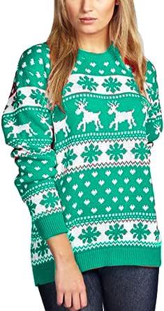 Janisramone niñas niños Nuevos niños Renos de Navidad Copo de Nieve Novedad Niños de Punto Fairisle de Navidad Saltador de suéter Top