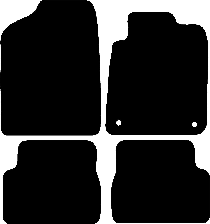 Connected Essentials CEM500 Car Mat Set Black with Black Trim Deluxe