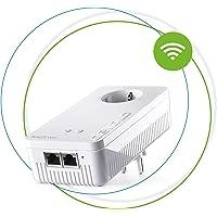 Devolo Magic 2 Wifi: Fantastischer Powerline-Erweiterungs Adapter mit WLAN-Funktion, bis 2400 Mbit/s Wifi AC, 2x Gigabit LAN-Anschluss, integrierte Steckdose, Mesh WiFi, Access Point, weiß
