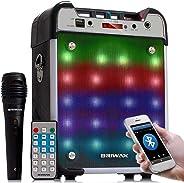 Caixa de Som Bluetooth Amplificadora 500w Microfone Karaokê USB e Pen Drive