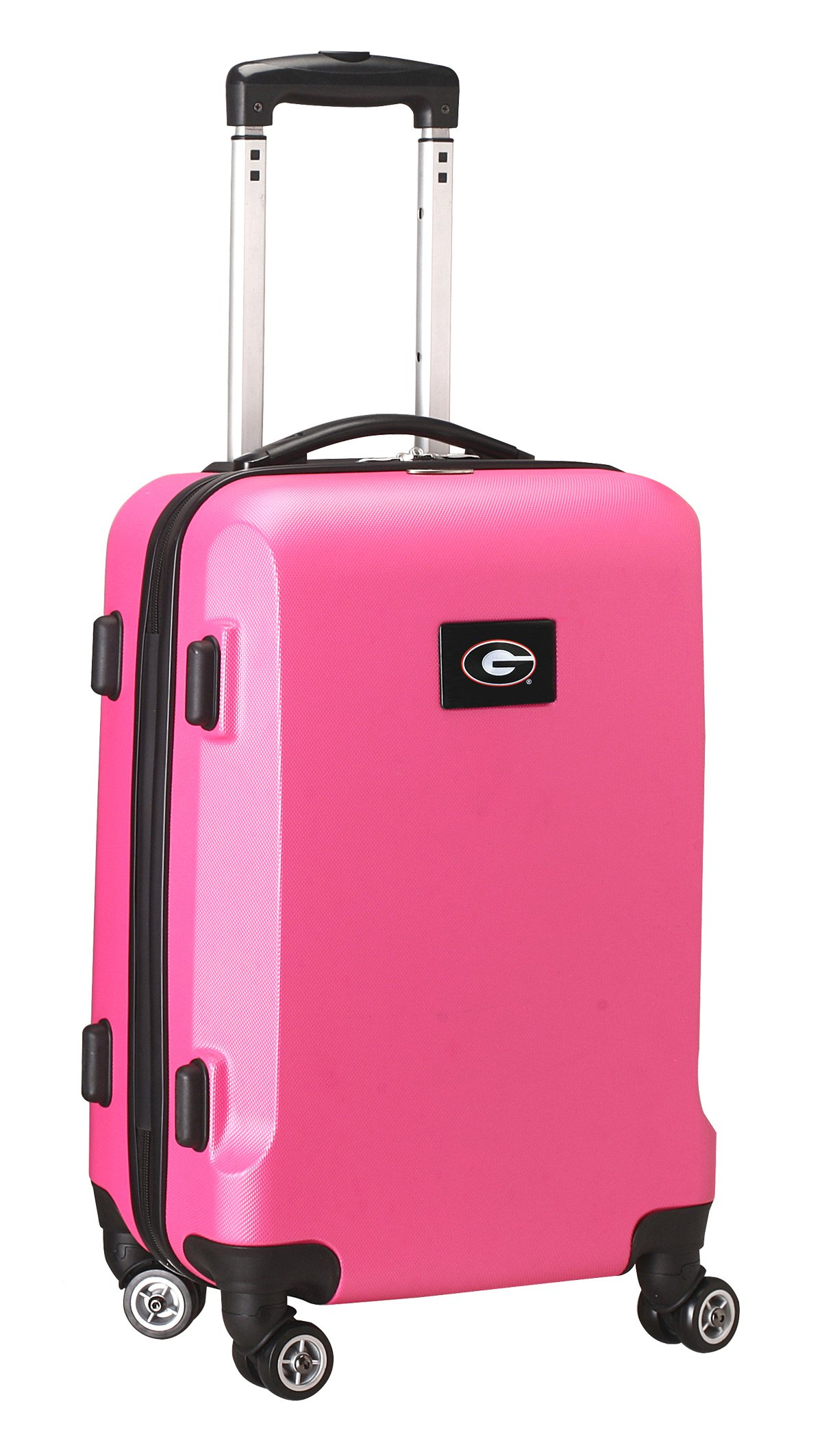 Denco NCAA Georgia Bulldogs Carry-On Hardcase Luggage Spinner, Pink
