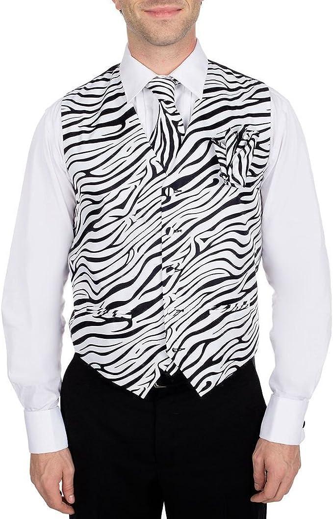 Amazon.com: De los hombres Blanco y Negro Zebra Print ...
