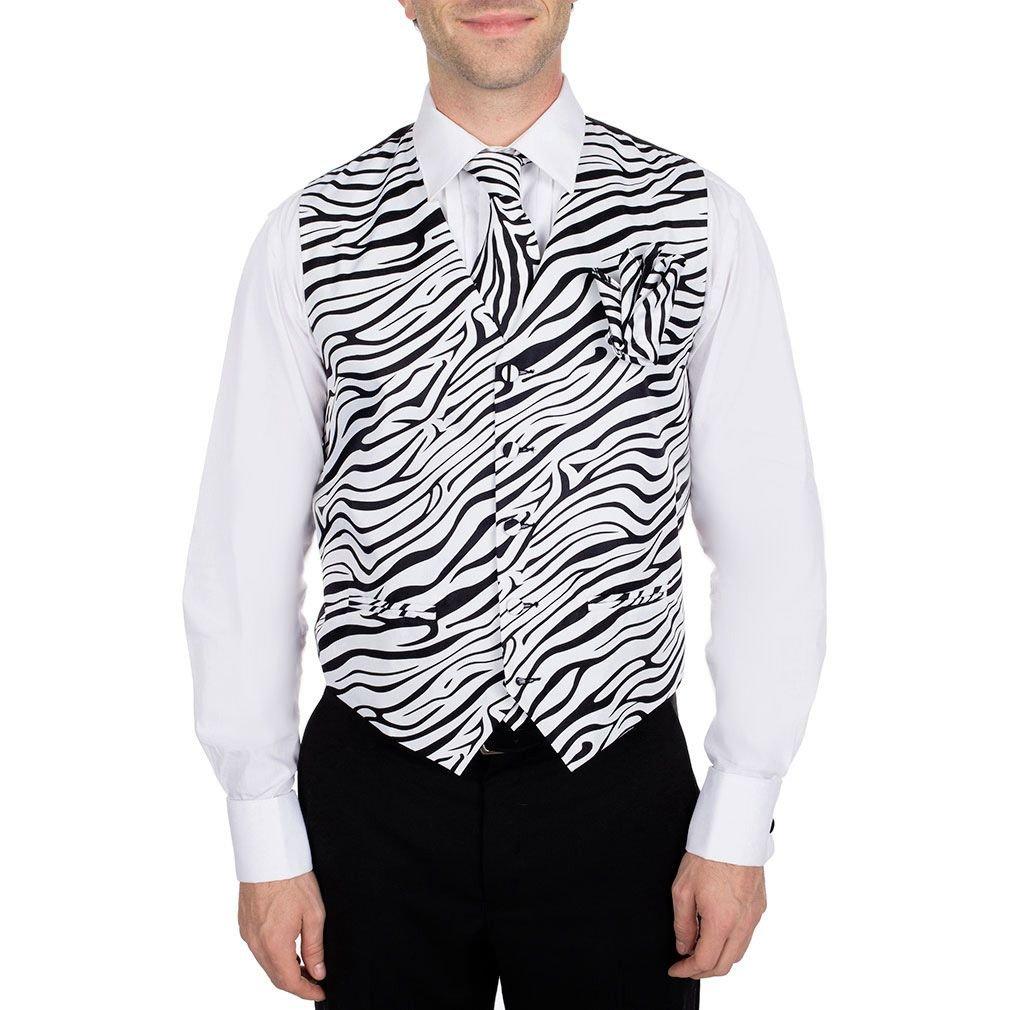 Mens Animal Print Tuxedo Vest, Tie, Bow Tie & Hanky 4 piece set at ...