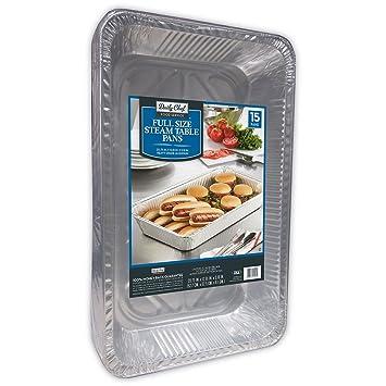 Bakers y Chefs de aluminio sartenes mesa de vapor - 15 ct: Amazon.es: Hogar