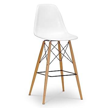 baxton studio azzo plastic midcentury modern shell stool white