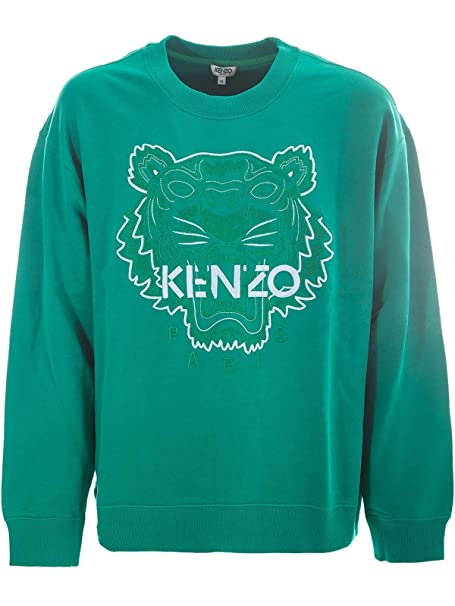 Kenzo Hombre F955SW5574XE57 Verde Algodon Sudadera: Amazon.es: Ropa y accesorios