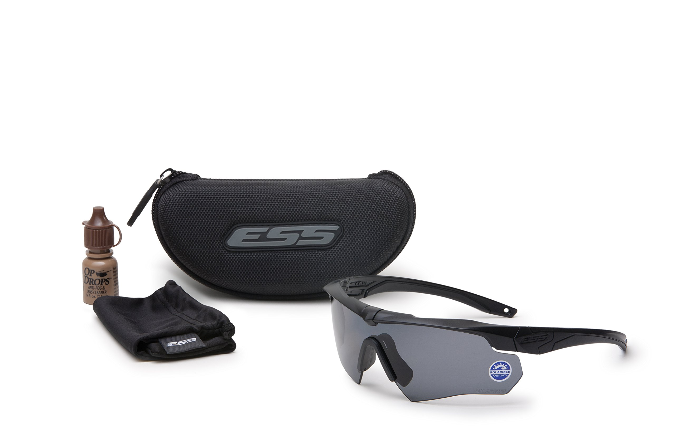 ESS 740-0494 Ess Polarized Gray Polarized Safety Glasses, Scratch-Resistant by Ess