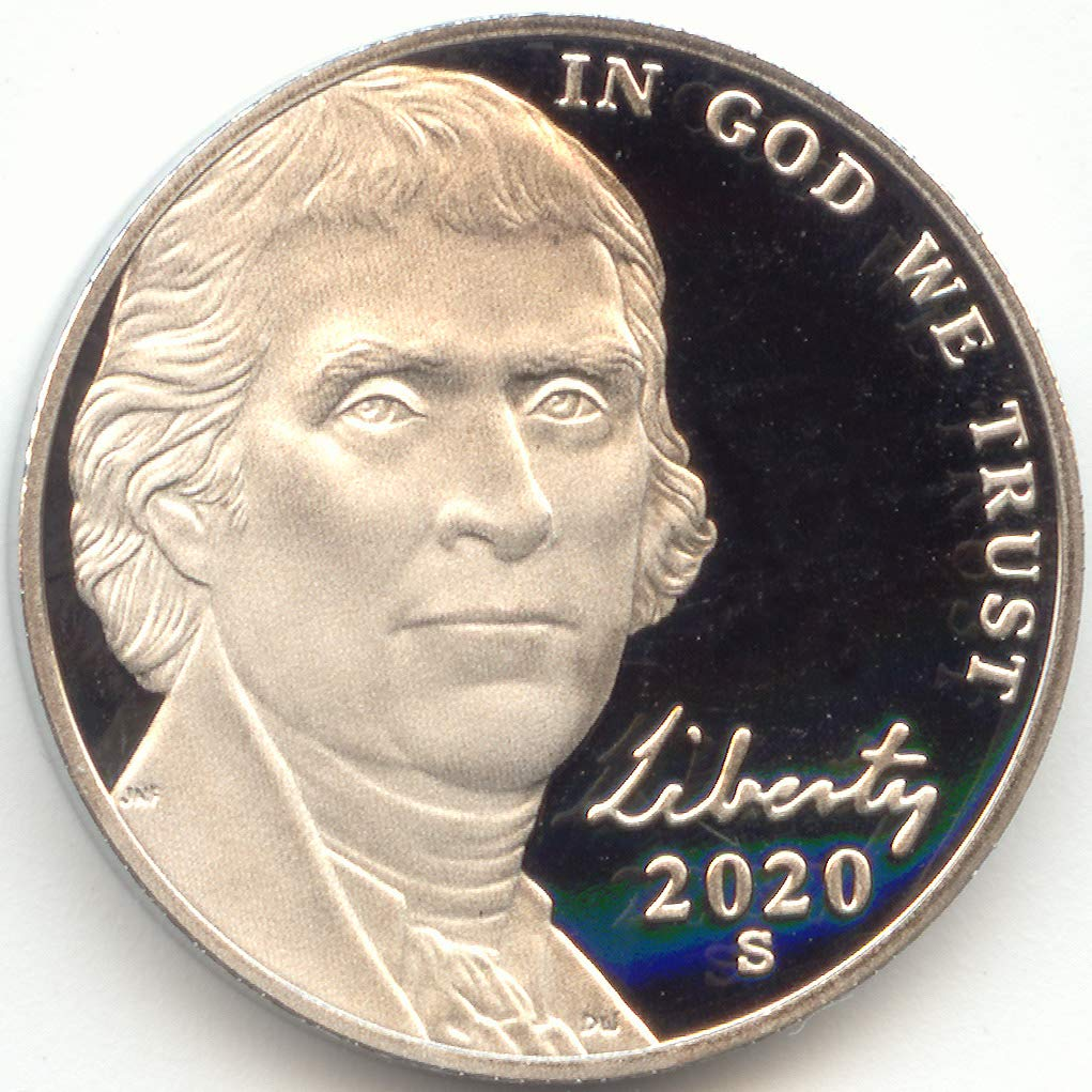1999 S Jefferson Nickel Mint Proof ~ Deep Cameo ~ From Proof Set
