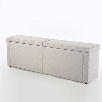 moderne hockerbank romantica 180x40cm microfaser feinstruktur grau ... - Sitzbank Für Schlafzimmer