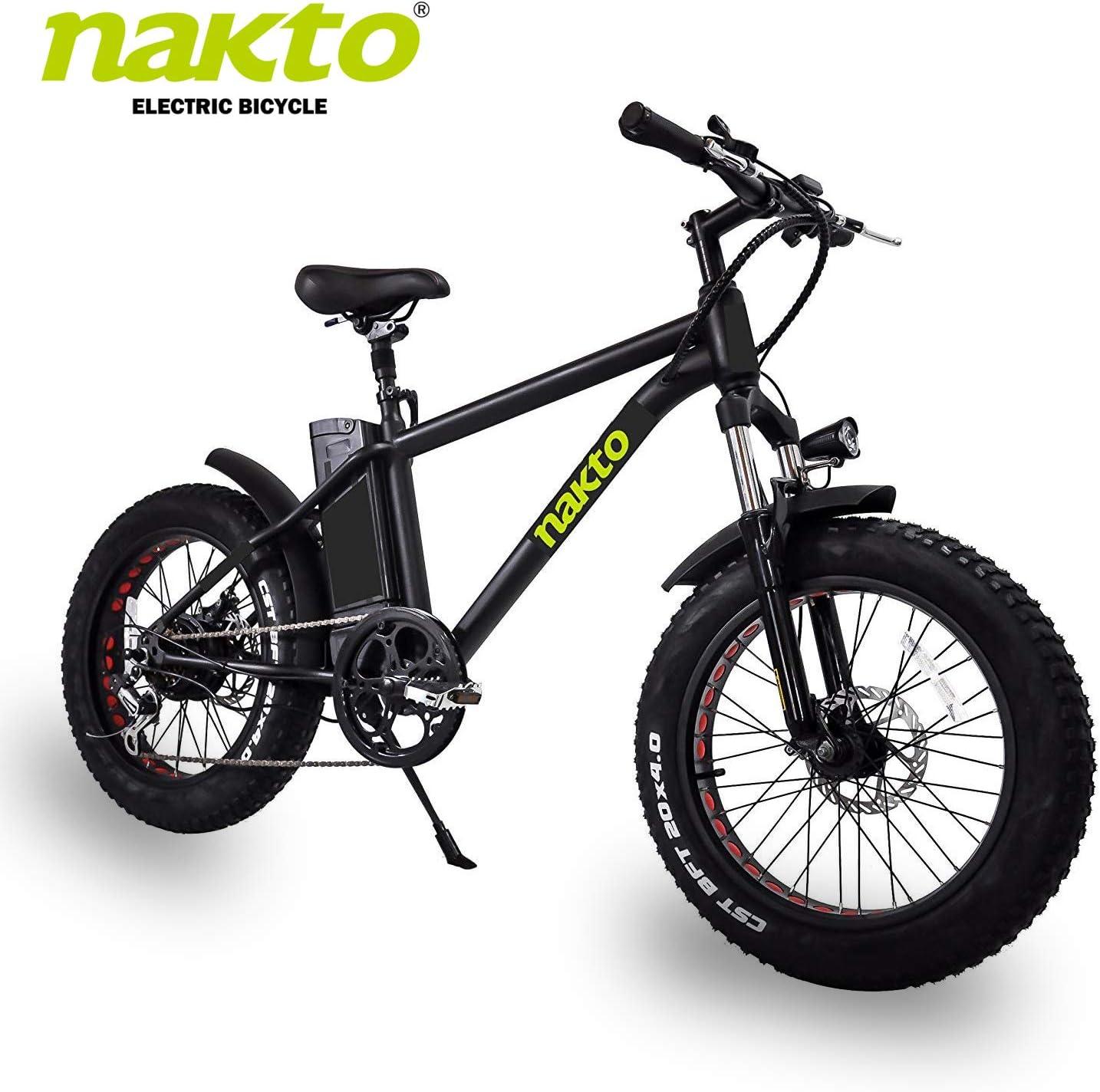 Nakto bicicleta eléctrica de montaña con batería de litio de 300 W ...