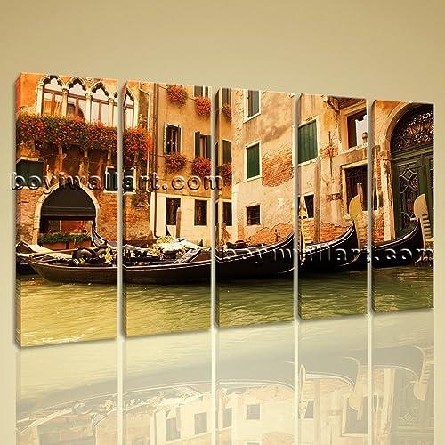 Amazon.com: Large Venice Gondola Ride Landscape Home Decor Wall Art ...
