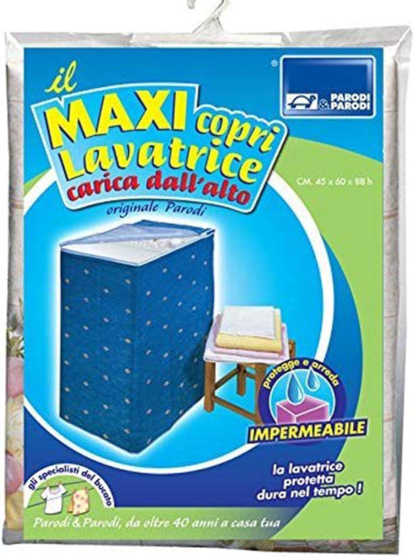 Funda para lavadora con carga superior, protector de lavadora, universal, con cremallera en resistente PVC, impermeable, estampados aleatorios, artículo 282