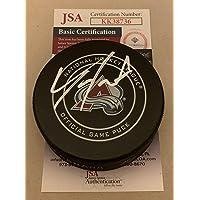 $97 » Tyson Jost signed Colorado Avalanche Official Game Puck autographed Avs JSA - Autographed NHL Pucks