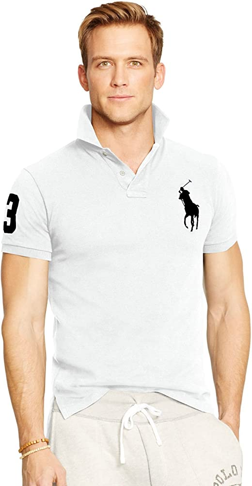 Ralph Lauren - Polo - para hombre blanco Medium: Amazon.es: Ropa y ...