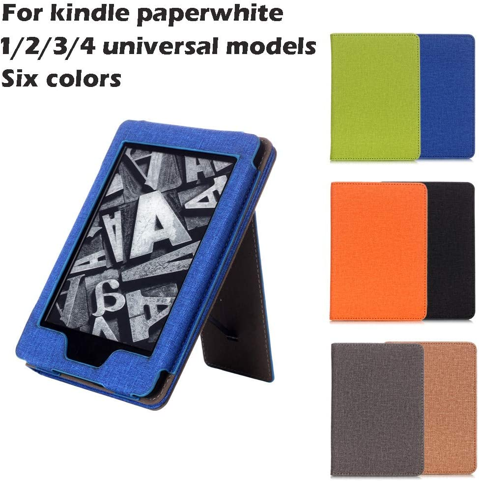 Black Fabric Soft Case Compatible with Kindle Paperwhite 1//2//3//4 FunDiscount shop Universal Slim Fit Stand Cover Protective Shell Support Hands Free Reading with Auto Wake Sleep