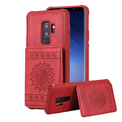 Amazon.com: Aearl Samsung Galaxy S9 Funda Cartera Plegable ...