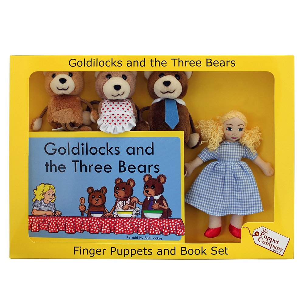 Uncategorized Goldie Locks And The Three Bears Story the puppet company traditional story sets goldilocks three bears finger set ltd amazon co uk