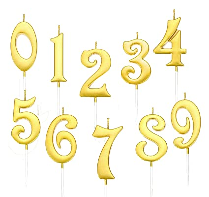 Happy Birthday Cake Topper Number 0-9 Cake Candles Party Decoration Supplies Hot
