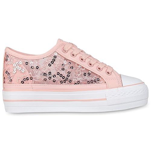 SCARPE VITA Damen Sneaker Wedges mit Keilabsatz Spitze Pailletten   Amazon.de  Schuhe   Handtaschen 2a6e2e813c