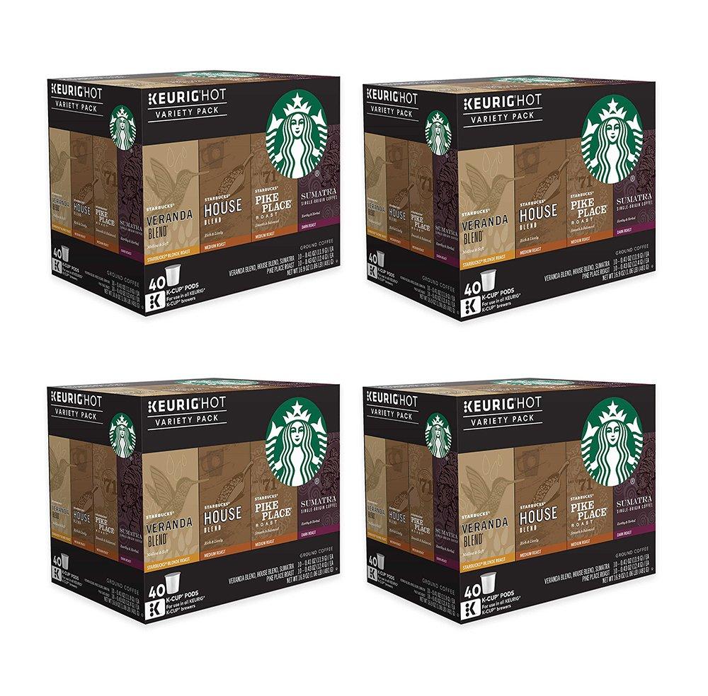 Starbucks Coffee oDgES Keurig K-Cup Variety Pack, 40 Count (4 Pack)