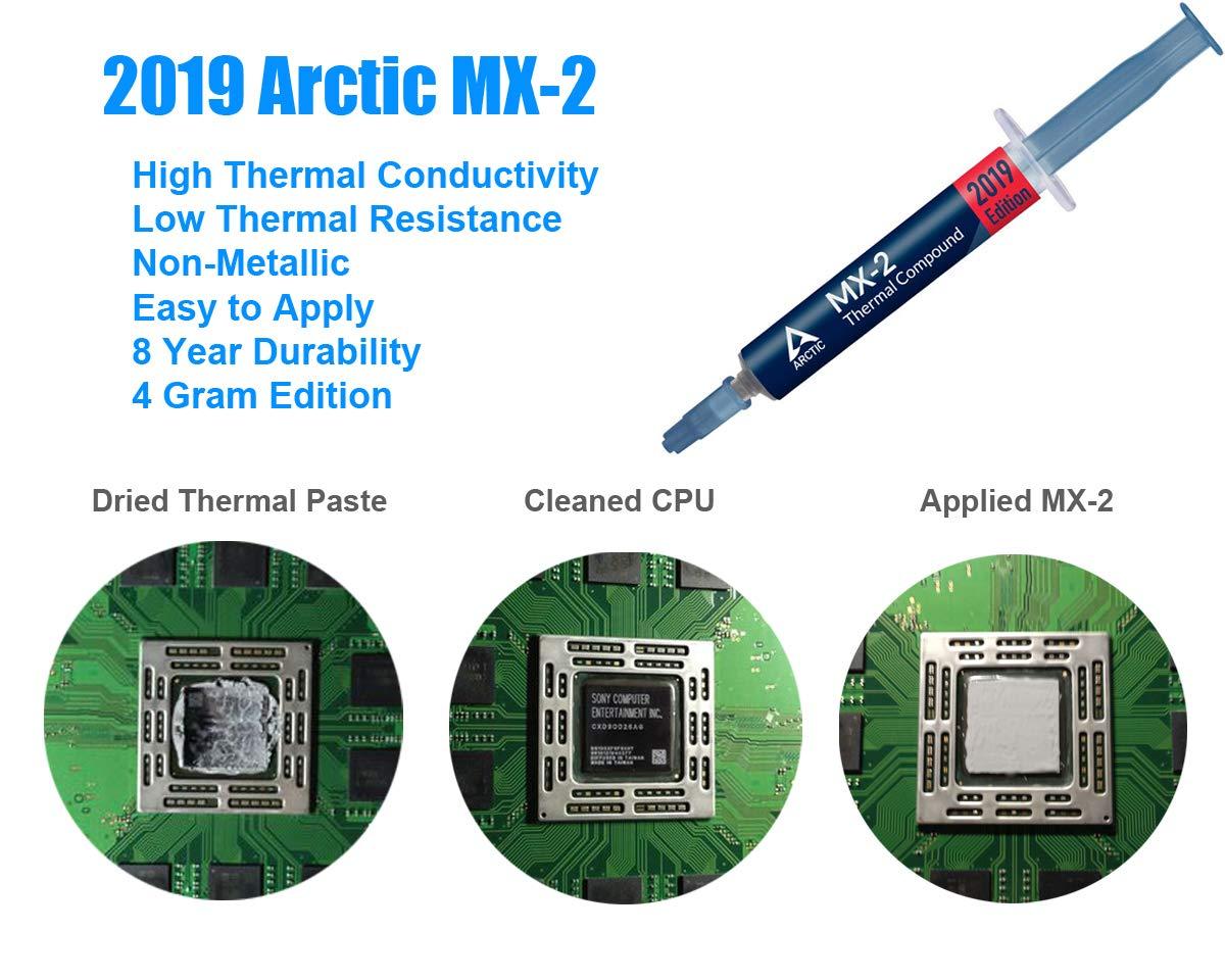 P/âte Thermique et TR8 PH0 Set de Tournevis pour Playstation 4 Pro ElecGear Replacement Interne Refroidisseur Ventilateur pour PS4 Pro CUH-7xxx CPU Ventilateur de Refroidissement Cooling Fan