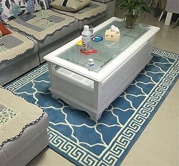 Amazon.de: Blauer Teppich Wohnzimmer Couchtisch Sofa Teppich ...