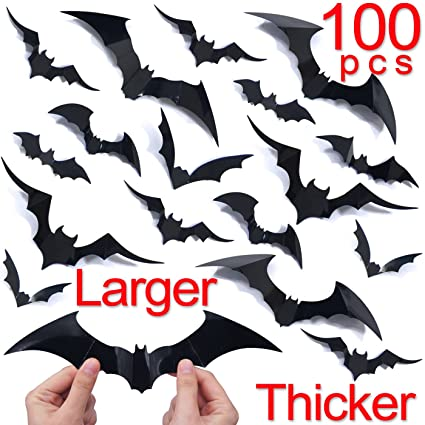 amazon com ivenf halloween bat wall decals stickers decor 100 pack