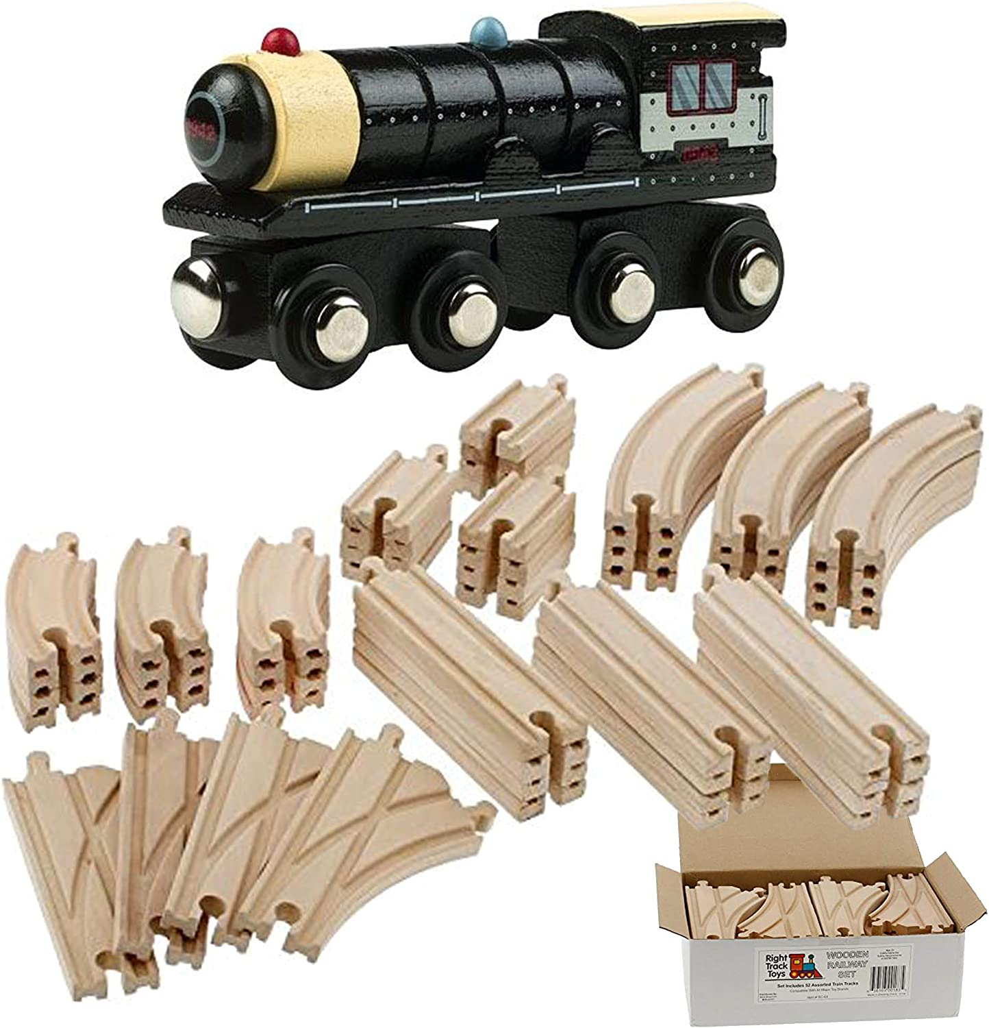 Wood Railway Train Track 6 inch curved Switch Track Toys R Us Imaginarium Brand
