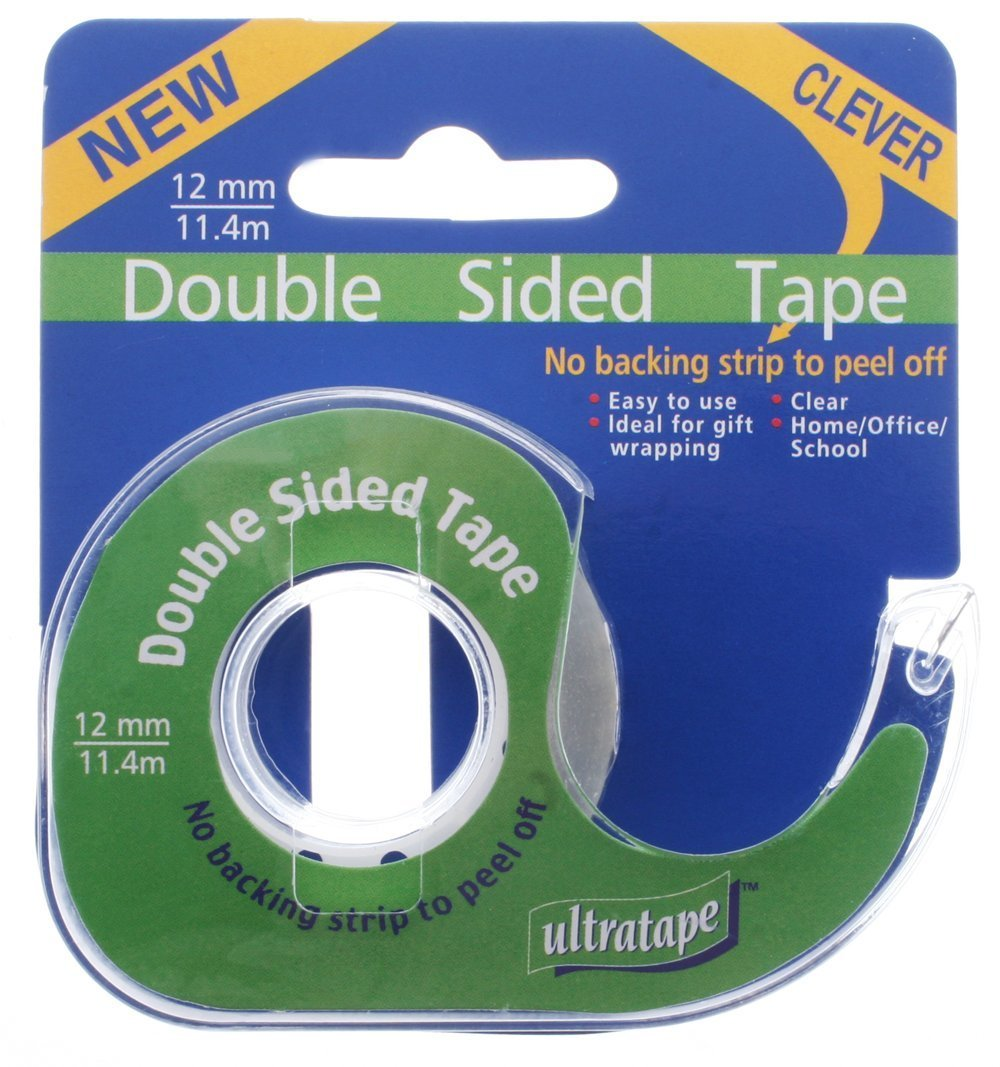 Double Sided Tape 12mm x 11.4m Home School Office Packing Craft Easy Adhesive