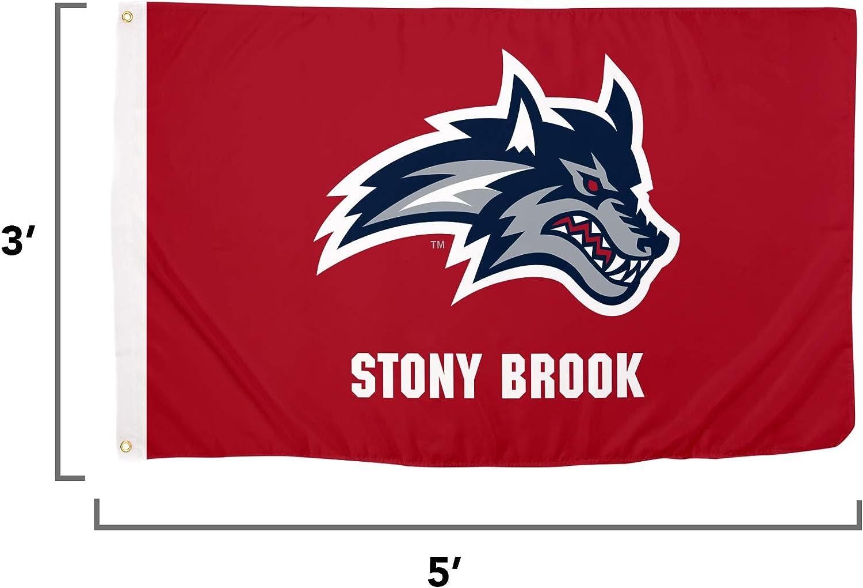 Desert Cactus Stony Brook University NCAA 100/% Polyester Indoor Outdoor 3 feet x 5 feet Flag