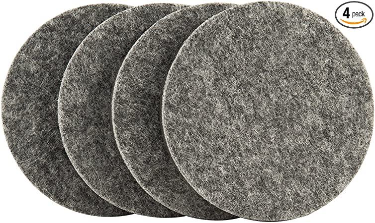 Quickly and Easily Move Items with Felt Floor Protectors SuperSliders 4743595N Reusable Furniture Movers for Hardwood Floors 3-1//2 Gray 4 Pack