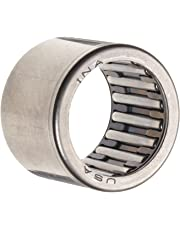 """INA SCE108 Needle Roller Bearing, Caged Drawn Cup, Steel Cage, Open End, Inch, 5/8"""" ID, 13/16"""" OD, 1/2"""" Width, 17600rpm Maximum Rotational Speed, 2700lbf Static Load Capacity, 1830lbf Dynamic Load Capacity"""