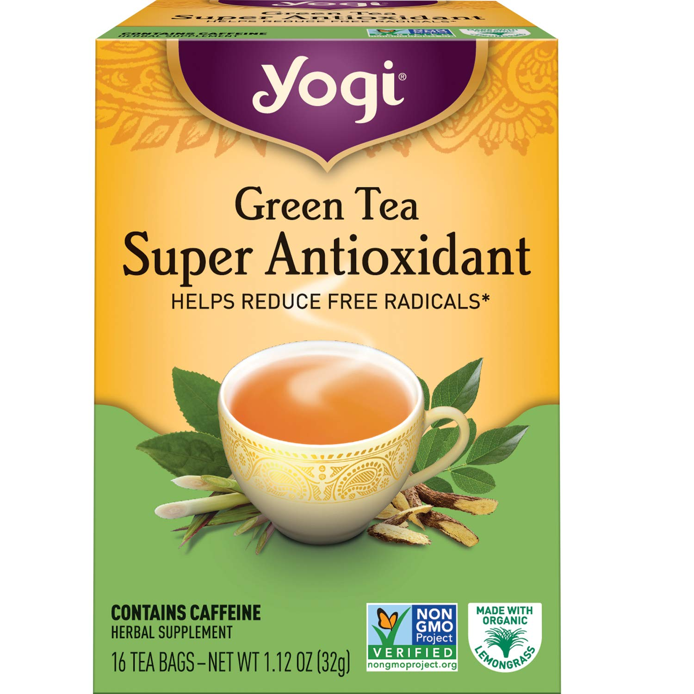 Yogi Tea - Green Tea Super Antioxidant (6 Pack) - Organic Green Tea Blend to Support Overall Health - 96 Tea Bags